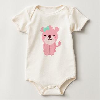 Body Para Bebê Leoa cor-de-rosa pequena bonito