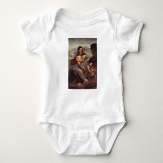 Body Para Bebê Leonardo da Vinci - Virgin e criança com St Anne