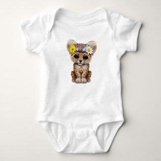 Body Para Bebê Leopardo bonito Cub do Hippie