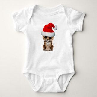Body Para Bebê Leopardo bonito Cub que veste um chapéu do papai