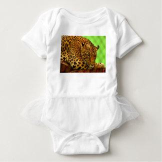 Body Para Bebê Leopardo no registro de Brown