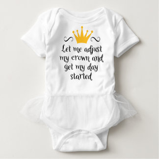 Body Para Bebê Let me adjust my crown