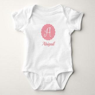 "Body Para Bebê Letra customizável ""A """