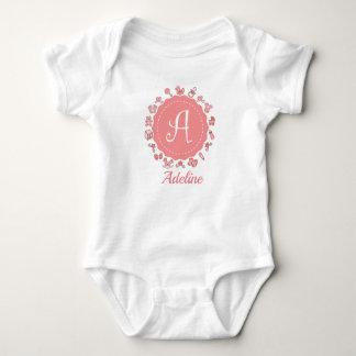 "Body Para Bebê ""Letra customizável A """