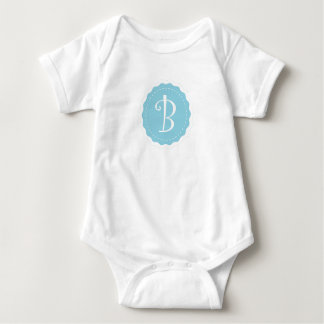 "Body Para Bebê ""Letra customizável B """