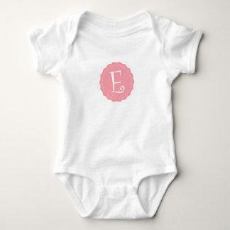"""Body Para Bebê Letra customizável """"E """""""