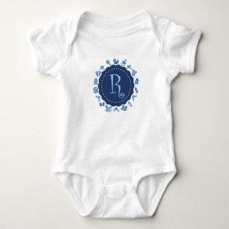 "Body Para Bebê Letra customizável ""R """