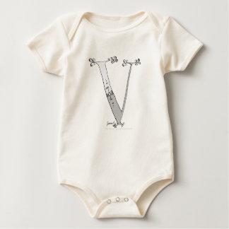 Body Para Bebê Letra mágica V do design tony dos fernandes