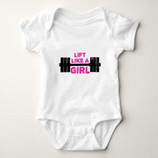 Body Para Bebê Levante como uma menina