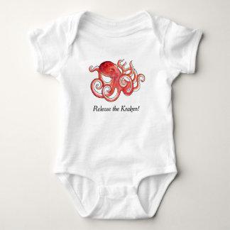 Body Para Bebê Libere o terno pequeno bonito do bebê do polvo de