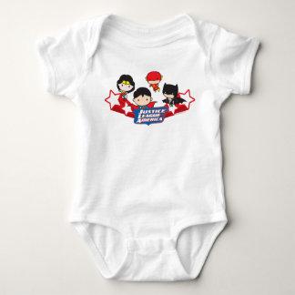 Body Para Bebê Liga de justiça de Chibi de estrelas de América