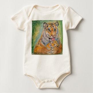 Body Para Bebê Ligação em ponte de bebê com tigres