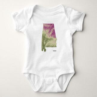 Body Para Bebê Ligação em ponte de bebê do impressão de Alabama