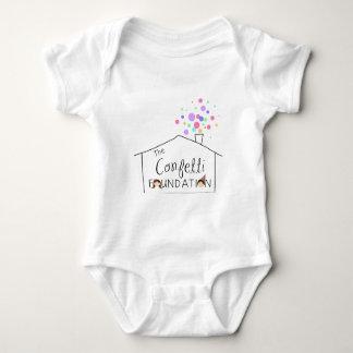 Body Para Bebê Ligação em ponte infantil da fundação dos confetes