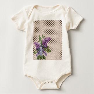 Body Para Bebê Lilac do vintage