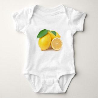 Body Para Bebê Limões amarelos brilhantes & frescos