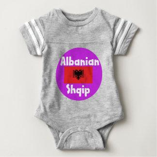 Body Para Bebê Língua de Albânia e design da bandeira
