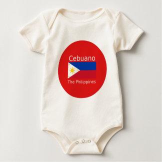 Body Para Bebê Língua de Cebuano e bandeira de Filipinas