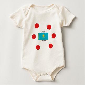 Body Para Bebê Língua do Cazaque e design da bandeira de