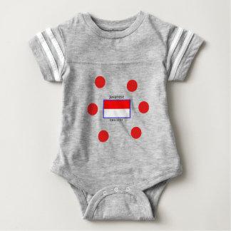 Body Para Bebê Língua do Javanese e design da bandeira do