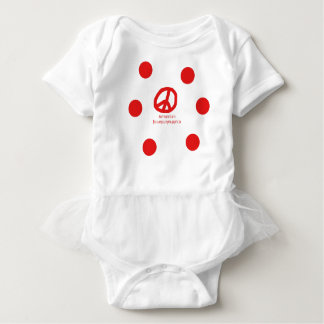 Body Para Bebê Língua e design arménios do símbolo de paz