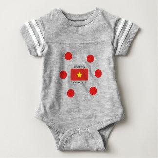 Body Para Bebê Língua e design vietnamianos da bandeira de