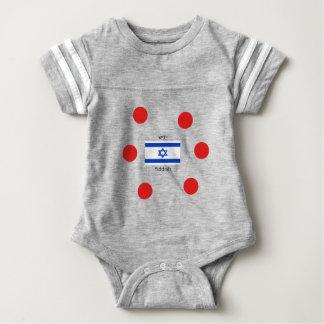Body Para Bebê Língua e design Yiddish da bandeira de Israel