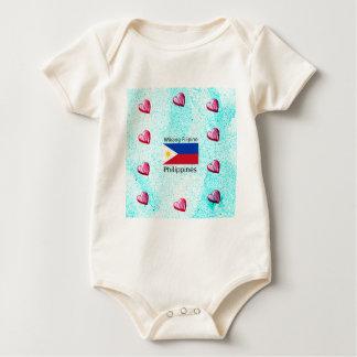 Body Para Bebê Língua filipina de Wikang e bandeira de Filipinas