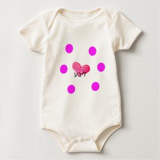 Body Para Bebê Língua Yiddish do design do amor