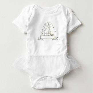 Body Para Bebê Linha de aço de Miono da concha do trabalhador da
