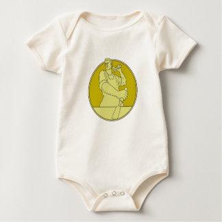 Body Para Bebê Linha do círculo do formão do escultor do