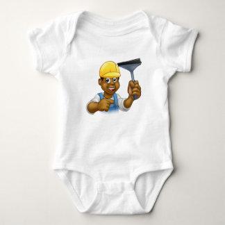 Body Para Bebê Líquido de limpeza de janela com rodo de borracha