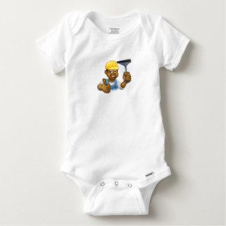 Body Para Bebê Líquido de limpeza preto com rodo de borracha