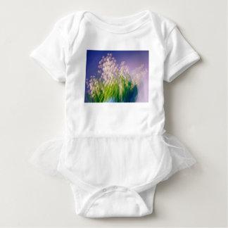 Body Para Bebê Lírio da dança do vale no azul