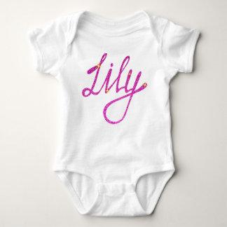 Body Para Bebê Lírio do Bodysuit do jérsei do bebê