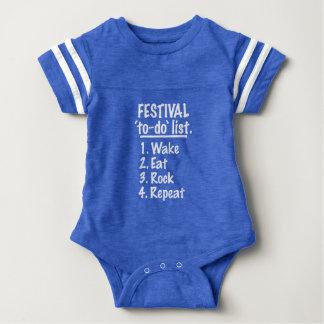 Body Para Bebê Lista do tumulto do ` do festival' (branca)