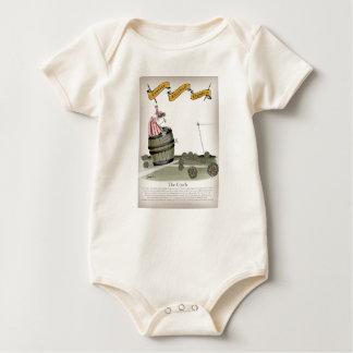 Body Para Bebê listras brancas vermelhas do treinador de futebol