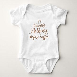 Body Para Bebê literalmente nada antes do café