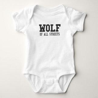 Body Para Bebê Lobo agradável de todo o impressão das ruas