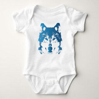 Body Para Bebê Lobo do azul de gelo da ilustração