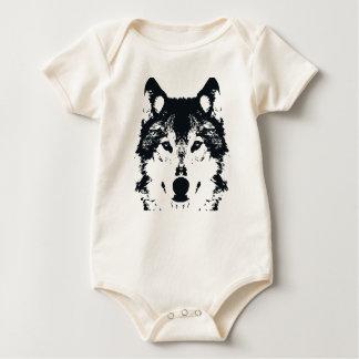 Body Para Bebê Lobo preto da ilustração