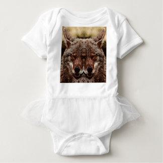 Body Para Bebê Lobo psicadélico
