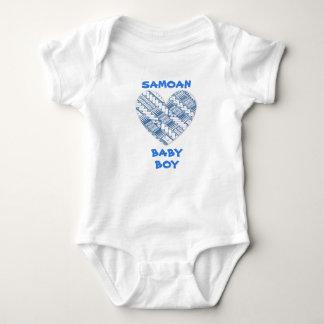 Body Para Bebê Logotipo azul infantil samoano com design tribal