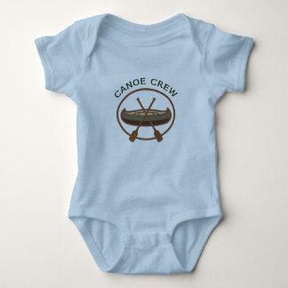 Body Para Bebê Logotipo Canoeing do grupo da canoa
