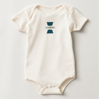 Body Para Bebê Logotipo da cor de w da cerceta do bebé de HAMbWG