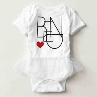 Body Para Bebê Logotipo do coração da palavra de Oregon da