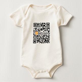 Body Para Bebê Logotipo e endereço de Bitcoin