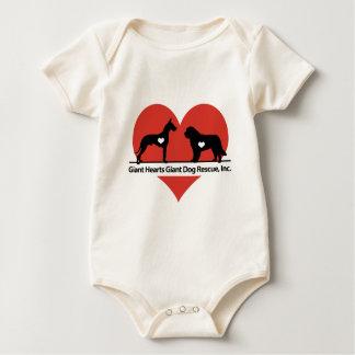 Body Para Bebê Logotipo gigante do salvamento do cão dos corações