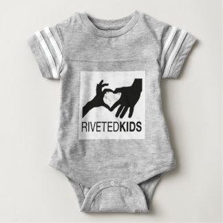 Body Para Bebê Logotipo rebitado dos miúdos