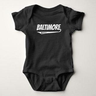 Body Para Bebê Logotipo retro de Baltimore